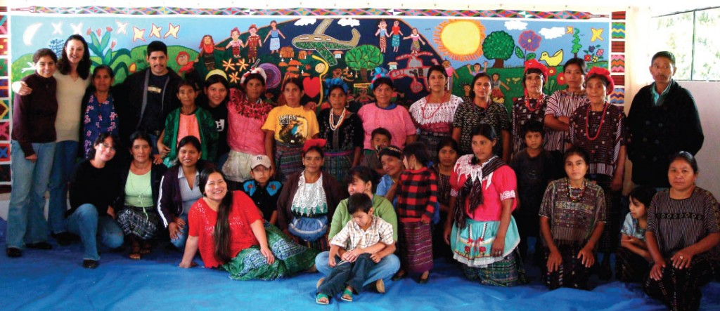 Artists from Huehuetenango and the School of Art and Open Studio of Perquin, August 2008.